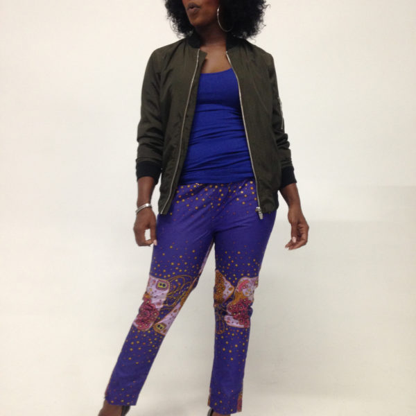 Female pant Purple Gold 2